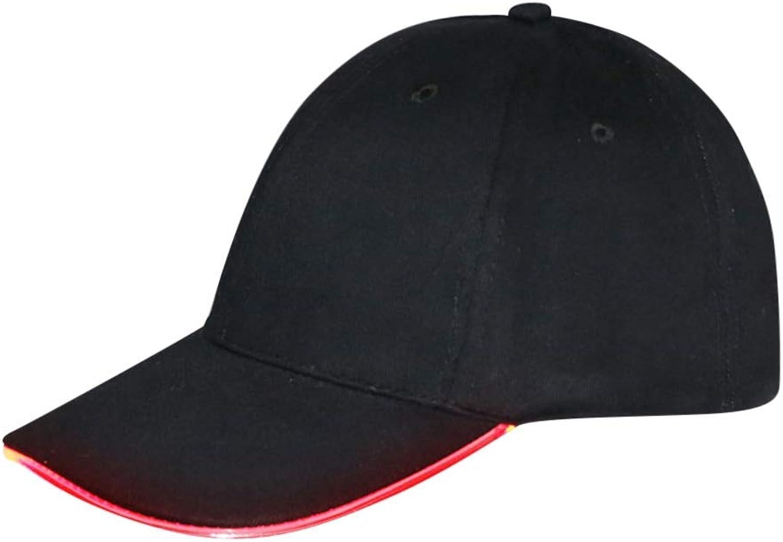 30a18190a76 AAMOUSE Baseball Cap Baseball Hat Hip Hop Cap LED Lighted Hat Glow ...