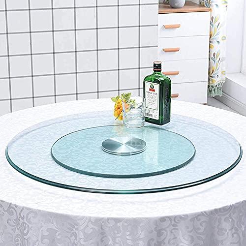 Cakunmik 70cm Esstisch Drehplatte, Runde Glas Drehplatte, Rotating Tablett Aus Gehärtetem Glas, Mit...