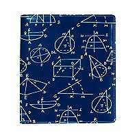 Carrozza ブックカバー 文庫 新書 数学柄 本カバー 16x22cm おしゃれ かわいい PUレザー 革