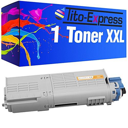 Tito-Express PlatinumSerie 1 Toner XXL Ciano per Oki C532 C532DN C 532 DN 532DN C542 C542DN C 542 DN 542DN MC563 MC563DN MC 563 DN 563DN MC573 MC573DN MC 573DN MC 573 DN