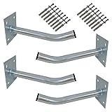 PremiumX 4X Autoreifen Wandhalter 35cm Reifenhalter für Auto Felgen Reifen Wandhalterung inkl. Montage Schraubensatz