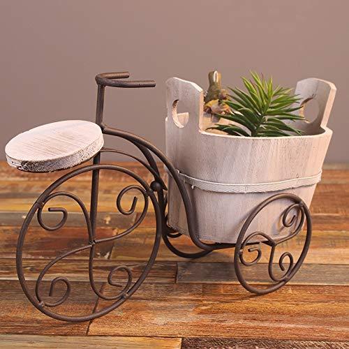 Macetero de hierro para bicicleta de hierro forjado, maceta de ...