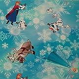 Jersey Stoff Disney Eiskönigin, Frozen, Anna, Elsa, Sven