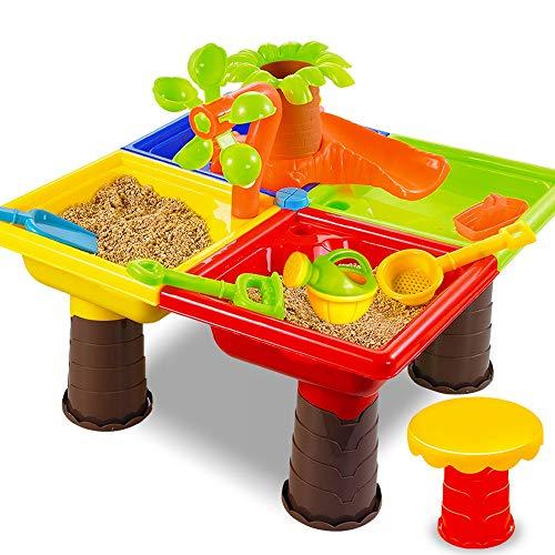 Msddc Beach Kids Jouets Ensemble, Les garçons et Les Filles Dig Sable, Table, Forme coloré, Mignon Convient for Les bébés de Plus de 3 Ans (Color : Coconut Tree)