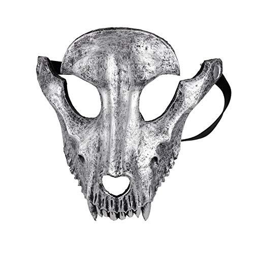 Angmile Máscara de Halloween Máscara de Cabeza de Oveja Animal Mascarada Máscara de Calavera de Oveja Máscara de Calavera de Cabra de Halloween Máscara