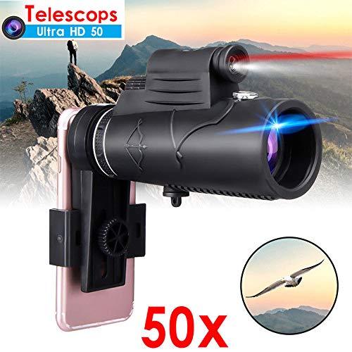 BeesClover Monocular 50X60 Zoom - Telescopio óptico para i-Phone Sa-ms-ung
