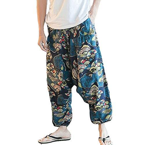 LANSKIRT Ropa de Pareja Unisex Pantalones Anchos Mujer y Hombre Chandal Pantalón de Yoga...