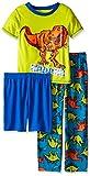 Komar Kids Boys' Big 3 Piece Jersey Pajama Set, Dinosaur, X-Small