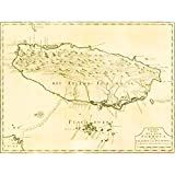Wee Blue Coo Prints MAP Taiwan Formosa Vintage History