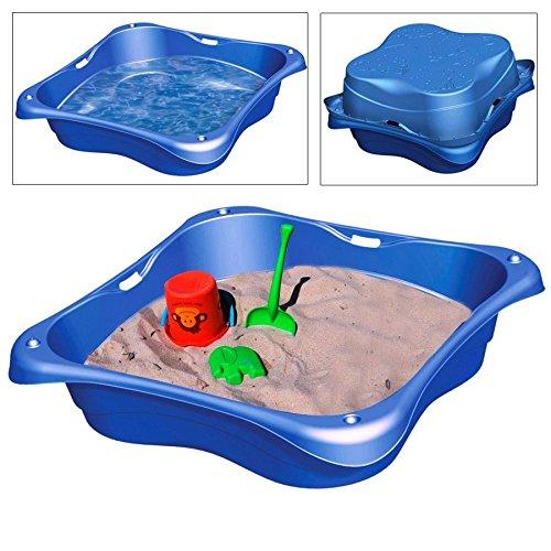 BURI Sandkasten 2er-Set Planschbecken Buddelkasten Pool Sandbox Sandkiste Kunststoff