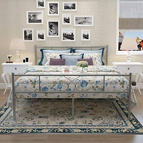 SimLife Twin Size Gold Bedframe Metal Bed Frame with Headboard and Footboard Mattress Foundation Support Platform Bed No Box Spring Needed, Popular Style !!Strong Solid Best Choice