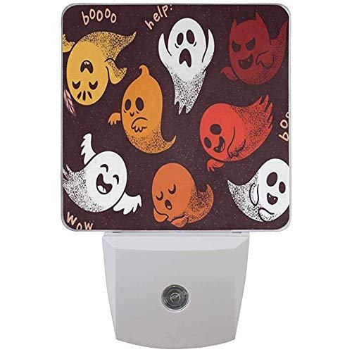 Katrine Store Mini Night Night Halloween Set Spooky Ghosts Dormitorio de los niños Cute Plug in Light Decoración Lámpara de Emergencia para niños Niñas Niños