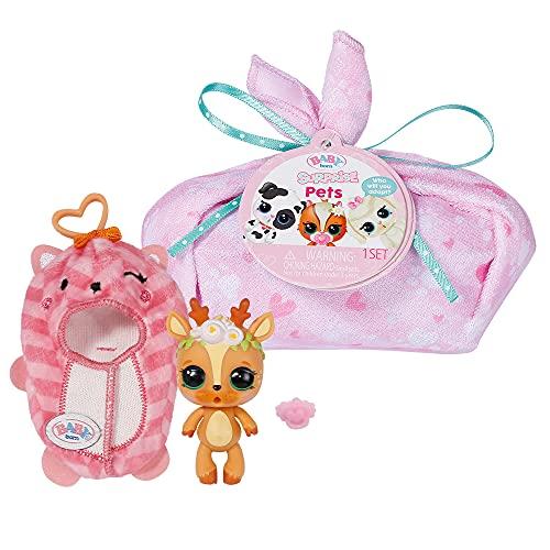 Zapf Creation 904459 BABY born Surprise Pets 2 - kleine Tiere, mit Kokon, Anhänger, Schnuller, Geburtszertifikat, mit Farbwechsel-Überraschung, Charakter nicht frei wählbar, 1 Stück