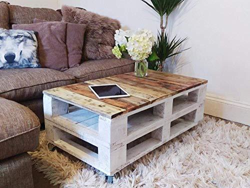 Dydaya Home Mesa de Centro para Salon con palets - Muebles con Palets para Salon, Jardin, Patio, Terraza (60 x 60 x 35 cm)