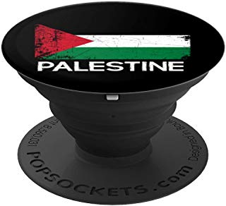 Palestinian Flag Design   Vintage Made In Palestine Gift - PopSockets Grip and Stand for Phones and Tablets
