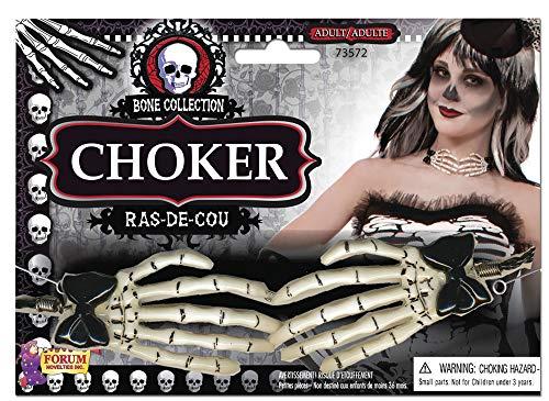 Forum Novelties BA1742 Hand Choker, White, Black, One Siz