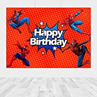 壁のスーパーヒーロースパイダーマンの子供の誕生日パーティーの背景の建物の男の子の写真の背景写真スタジオの室内シーンの写真の背景