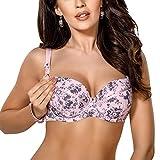 Gorsenia Dame Still BH Umstandsmode Schwangerschaft MK11 IGA, Pink-Grau,75G