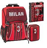 Kit completo mochila escolar Milan extensible 2020 + estuche 3 pisos completo + diario Datato Milan + bolígrafo con purpurina y llavero silbato