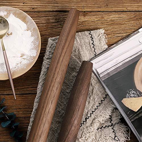 Natural Black Walnut deegrol Fijnschuren zonder toegevoegde chemische coating Non-Stick Koken Bakken Tools Dough Roller Point