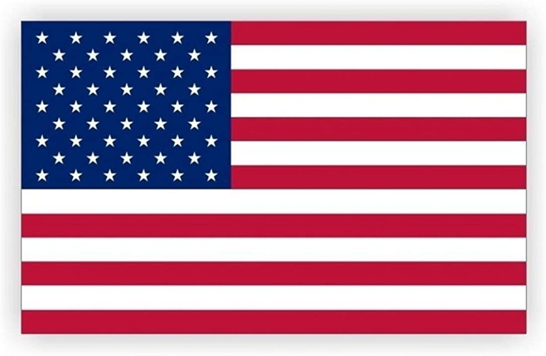 Master451 Award-winning store American Flag Static Cling Adhesive S Decal Window Non Super intense SALE