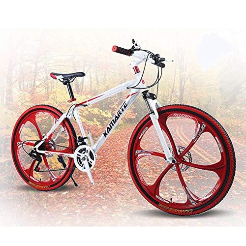 XNEQ Bicicleta De Montaña De 26 Pulgadas con Doble Freno De Disco, Bicicleta De Una Rueda, Bicicleta Plegable para Hombres Y Mujeres,4,27Speed