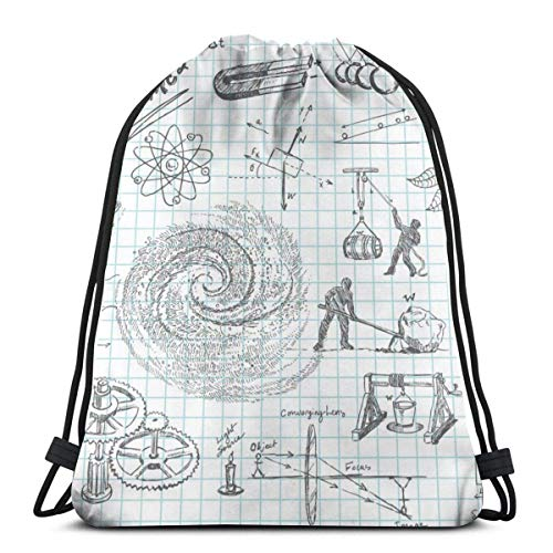 Gym Drawstring Bags Backpack Physics Charts Sackpack Tote For Travel Storage Shoe Organizer School Shoulder Water Bottle Student
