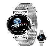 Reloj Inteligente Smartwatch Femenino,Monitores De Actividad De Ritmo Cardíaco IP67 Resumen De Notificación Fisiológica A Prueba De Agua Pulsera Deportiva, Llamada SMS/SNS Notificación,C