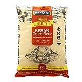 HEMANI Besan, Gram Flour, Chickpeas Flour, White Garbanzo Bean Flour, Hummus Flour - 4LB (1.8kg) - Non-GMO, Gluten Free, Vegan, High Plant-Based Protein
