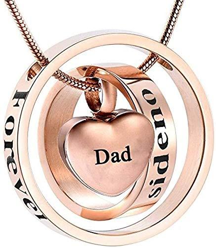 ketting JJ001 aangepaste graveren papa/mama/zoon voor altijd in mijn hart Urn maar niet langer door mijn kant Memorial sieraden voor as-mama box_funnel