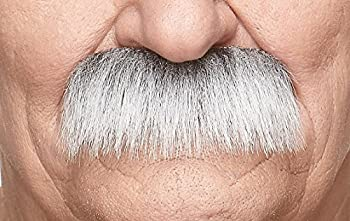 Mustaches Self Adhesive Fake Mustache Novelty Grandpa s False Facial Hair Costume Accessory for Adults Gray with White Color