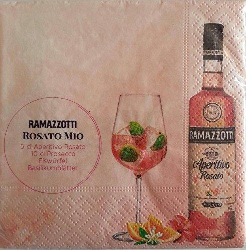 Ramazzotti Rosato Cocktailservietten 50 Stück