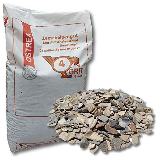 OSTERA® Muschelschalengrit 25 kg 4-7 mm Gr. 4 Muschelgrit Muschelschrot Muschel