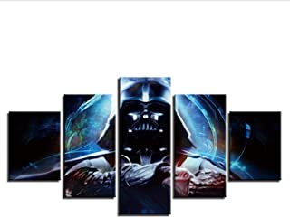 Alasijia Canvas Paintings Wall Art Modular for Living Room Decor Framework 5 Pieces Poster HD Prints Darth Vader Pictures-30CMx40/60/80CM