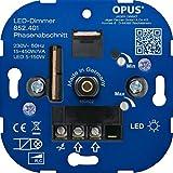 OPUS® Dreh-Dimmer für LED- und Energiesparlampen Ausführung Phasenanschnitt, Watt 20-250 VA / 3-85 W
