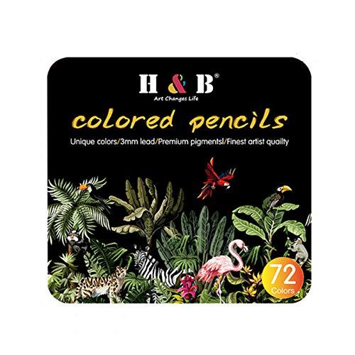 AquarellfarbenÖlgemälde Bleistift Set Künstler Naturholz 72 Farben Bleistift Set Briefpapier Skizze Kunstzubehör Zum Malen Für Kinder