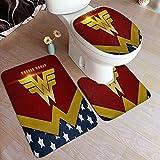 Cute Phones Felpudo de Wonder Woman para puerta de baño,...