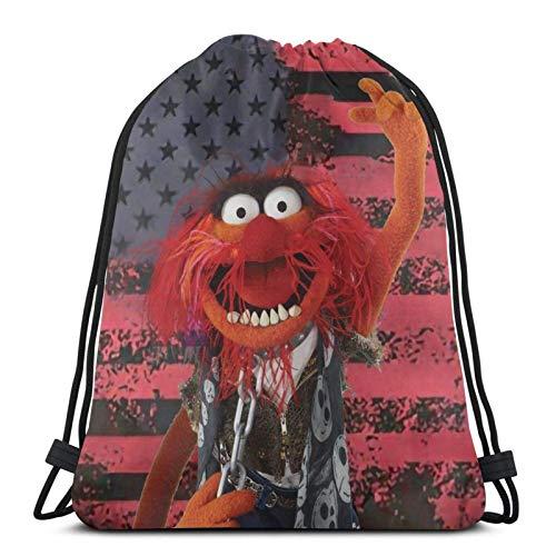 IUBBKI Mochila con cordón con estampado, vaso de precipitados The Muppets2, bolsa...