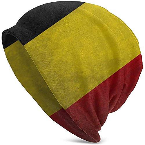 zsxaaasdf Gorro de Punto con Bandera Belga para Hombres Adultos, Gorro Unisex, Holgado y Ligero, Gorro de Punto