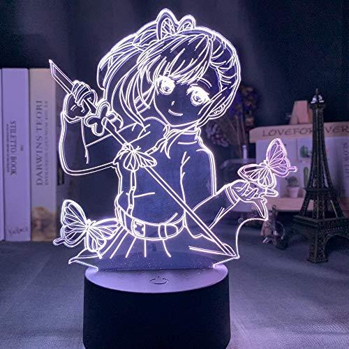 Anime Demon Slayer Tsuyuri Kanawo Figur LED Nachtlicht für Mädchen Raumdekoration Nachtlicht Kimetsu No Yaiba Geschenk Tisch 3d Lampe