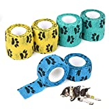 Self Adhesive Bandage Wrap,6 Pcs Vet Wrap Cohesive Bandages for Dogs Hoeses Pet Animals for Wrist Healing Ankle Sprain and Swelling