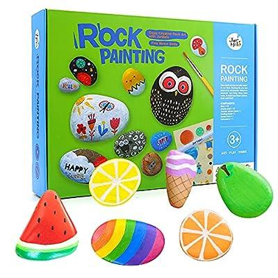 Jar Melo Rock Painting Kits for Kids; Hide & Seek Rock Kits; Crafts for Kids; Acrylic Paint for 10 Rocks; Arts & Crafts Kits for Kids ; Ideal Gift for Kids by NINGBO GUDONG CREATIVITY TECHNOLOGY CO.,LTD