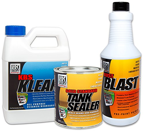 KBS Coatings 52050 Large Cycle Tank Sealer Kit, Seals Up to 12 Gallon Tank
