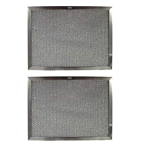 Replacement Aluminum Filters Compatible with Estate W10419114, Sears/Kenmore S99010300, Whirlpool W10419114,G-8125, -11-3/4 x 17-1/4 x 3/8 (PT LS) (2-Pack)