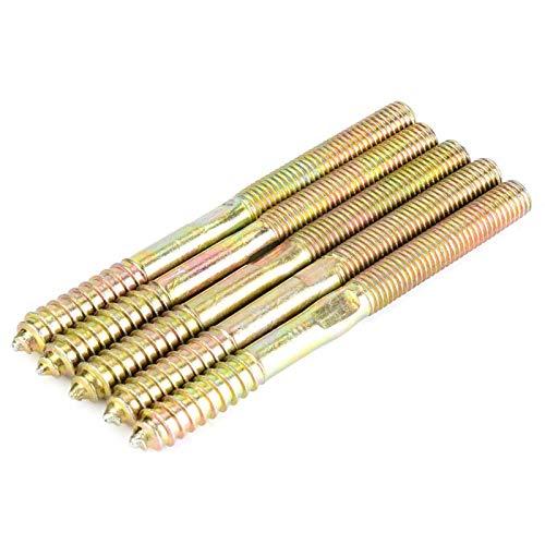LANTRO JS - Tornillo de pasador resistente y duradero, conector de muebles de carpintería, tornillo de doble punta, para hacer juntas en carpintería(10 * 120)