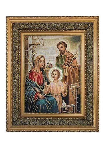 Sagrada Familia Imagen impresa Tela acojinada/Cushion Frame 17'x21' Holy Family