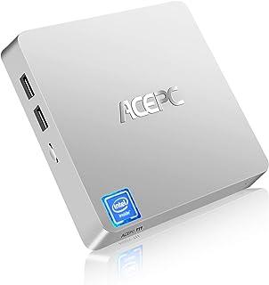 Mini PC, ACEPC T11 Windows 10 Pro(64 bits) Intel x5-z8350,sin Ventilador,con Terminal HDMI/VGA, Alta resolución 4K, 4GB/64...
