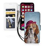 Étui de téléphone LINGF,étui Cool pour Chien Beagle pour iPhone 11 Pro étui Mignon pour Femmes...