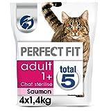 PERFECT FIT Adulte Sterilise - Croquetas de salmón para Gatos