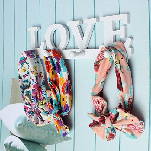 INOVEY Creativo Vintage White Love Bata Gancho para Vestidos Titular Perchas secas decoración de la Pared